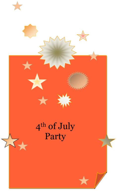 4th of July Party Invitaton Template