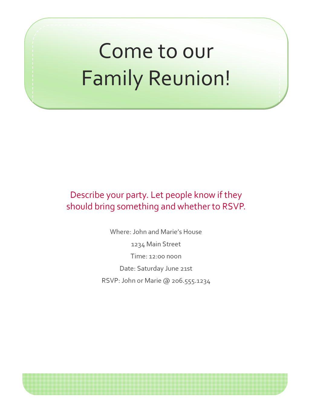 Family Reunion Tree Template Related Keywords