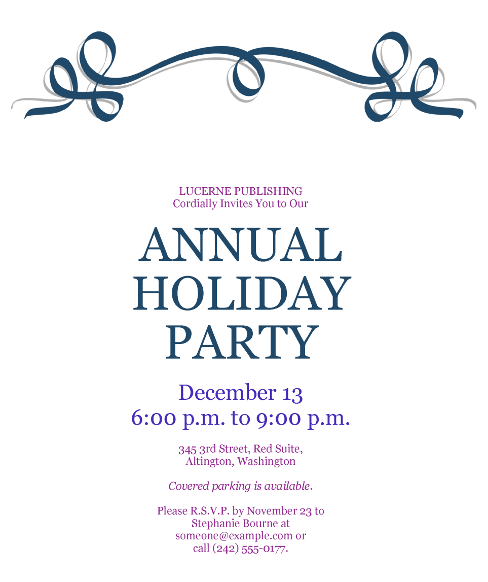 party invitation template holiday party invitation template