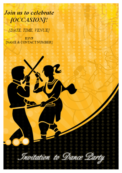 Invitation to Dance party Template