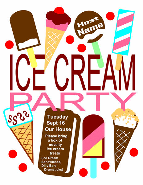 Invitation to an Ice Cream Party Template