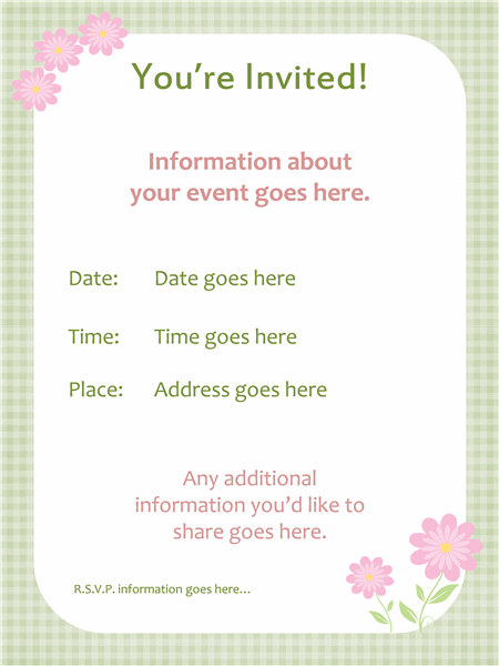 spring invitation template