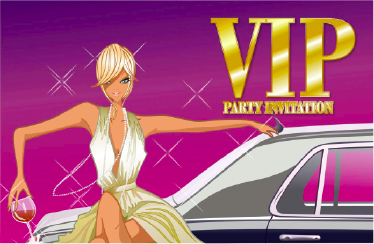 VIP Party Invitation with Limo Template