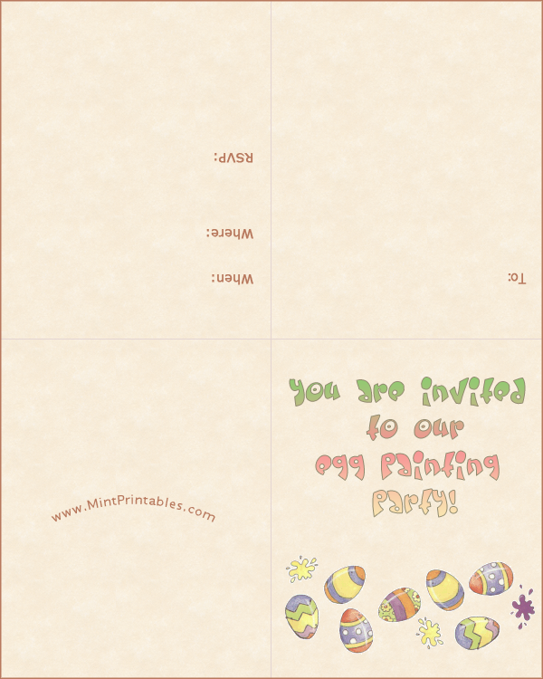 Egg Painting Party Invitation Template